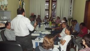A reunião contou com a participação de todos os secretários