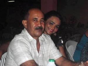 Arão Mambenga e sua esposa Marinete