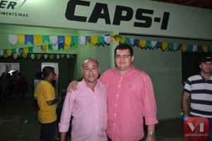 Venicio do Ó e o ex-coordenador do CAPS Carlos Pires