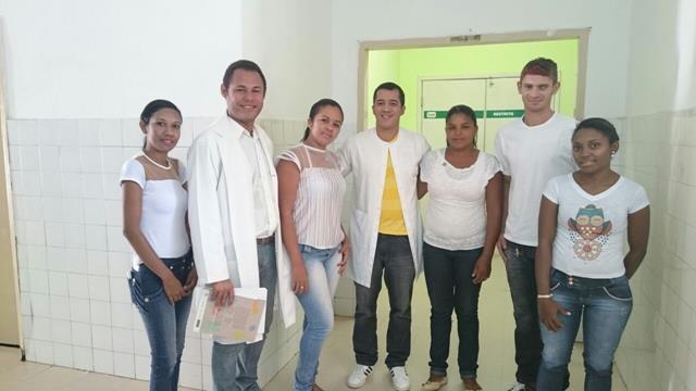 Os alunos foram recepcionados pelo supervisor de enfermagem Ruanderson Barros