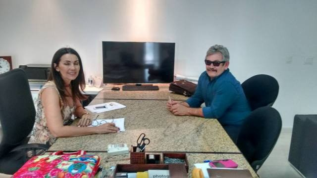 Governadora Margarete Coelho e Rubens Alencar durante audiencia nesta quarta.