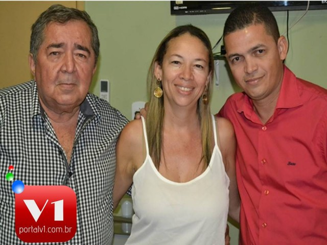 Dr. Weimar Santos, Luciana Martins e José Filho