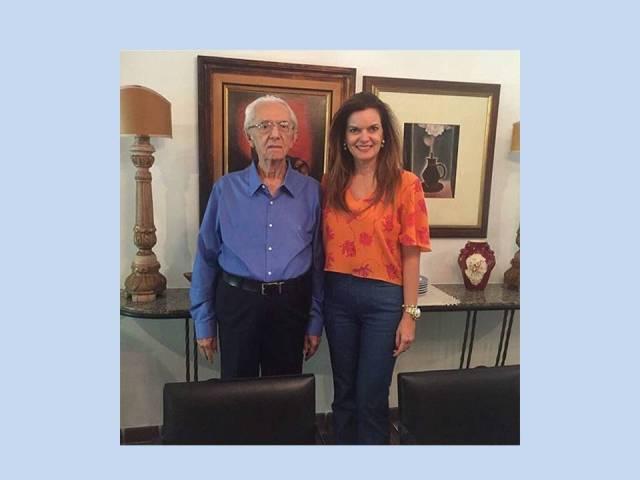 Lucidio Portela e a sua filha deputada federal Iracema Portela