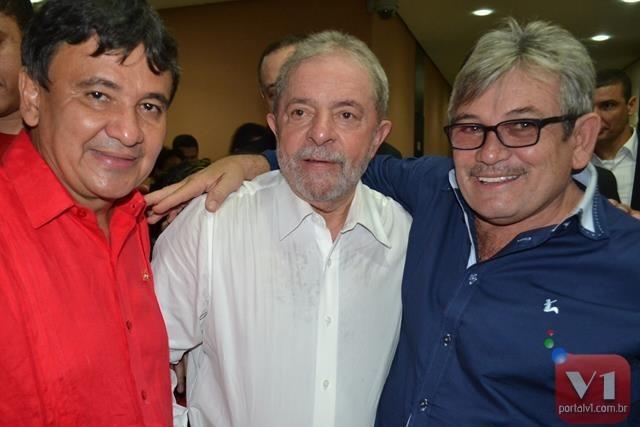 Governador Wellington Dias, ex-presidente Lula e Rubens Alencar
