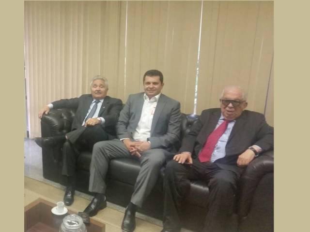 Senador Elmano, prefeito Venicio do Ó e deputado Paes Landim