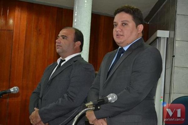 Prefeito Walfredo Filho e presidente da câmara vereador Getulio Gomes.