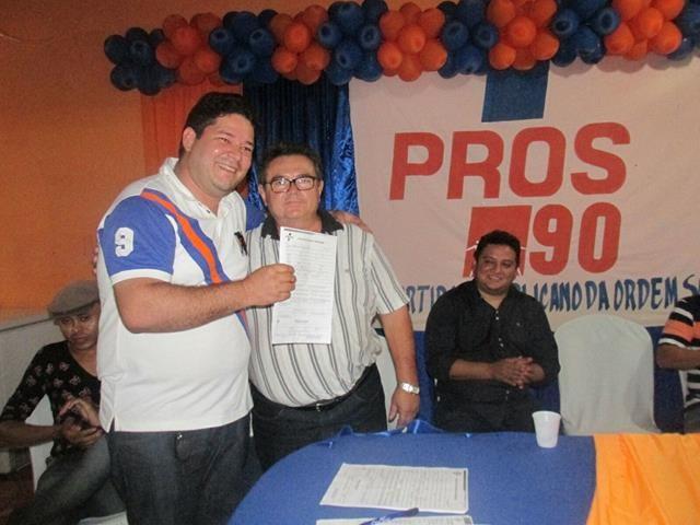 Presidente Leonardo Nogueira e o ex-vereador José Nunes