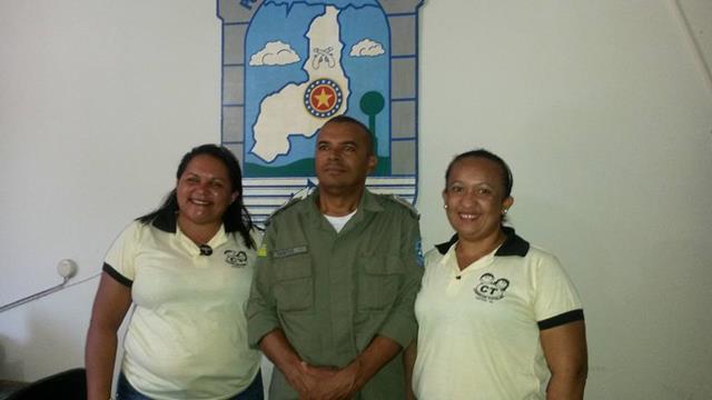 Capitão Antonio Santos e membros do Conselho Tutelar de Valença