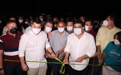 Prefeito Manoel Portela e secretário Rafael Fonteles inauguram obras em Aroazes